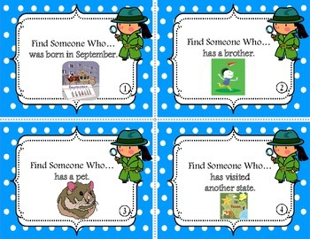 Find Someone Who... {Icebreaker Task Cards for the Beginning of the School Year}