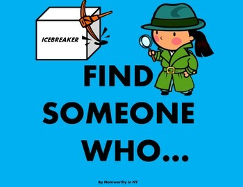 Find Someone Who... {Icebreaker Task Cards for the Beginni