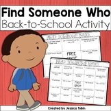 Find Someone Who Icebreaker FREE- Back to School Activity