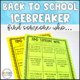 Find Someone Who Icebreaker Activity (FREEBIE)