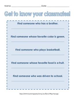Find Someone Who... Icebreaker Game!