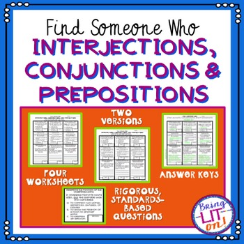 Conjunctions, Prepositions, and Interjections - Find Someone Who
