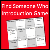 Back to School Activities Introduction Game Find Someone Who