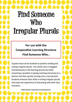 Find Someone Who: Irregular Plurals