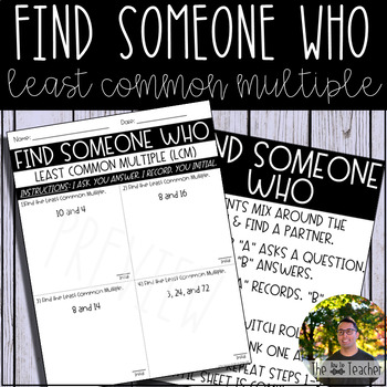 Find Someone Who (Least Common Multiple)