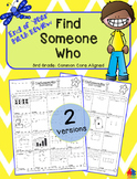 Find Someone Who Math - 3rd Grade Summer / End of Year