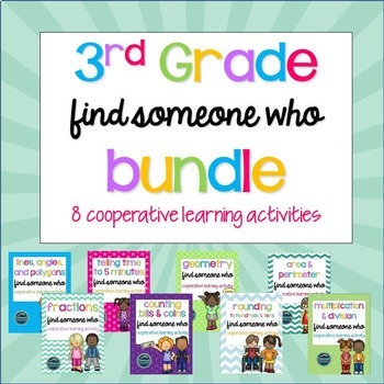 Find Someone Who Math Bundle