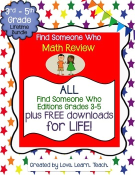 Find Someone Who Math Bundle Grades 3-5 - ALL items update
