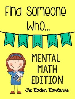 Find Someone Who Mental Math