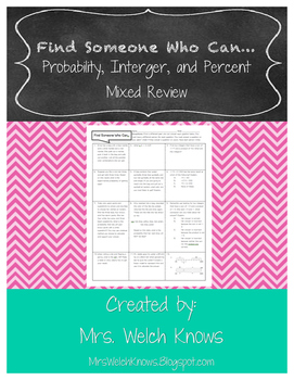 Find Someone Who: Mixed Review FREEBIE