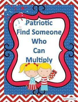 Find Someone Who Mulitplication