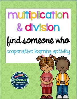 Find Someone Who - Multiplication & Division