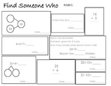 Find Someone Who- Numbers to 40, Addition and Subtraction