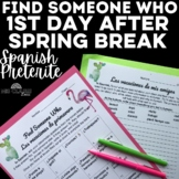 Find Someone Who - Post Spring Break (past tense) - Spanish