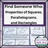 Find Someone Who . . . Properties of Parallelograms, Recta