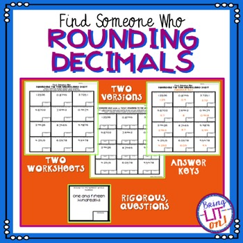 Find Someone Who - Rounding Decimals