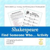 Find Someone Who: Shakespeare Edition