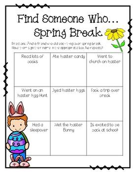 Find Someone Who...Spring Break!