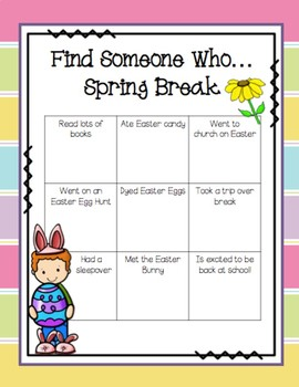 Find Someone Who...Spring Break!