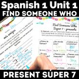 Find Someone Who - Super 7 (present) - novice Spanish