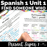Find Someone Who - high frequency (present) - novice Spanish