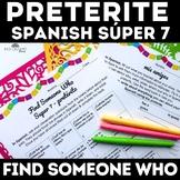 Preterite High Frequency Verbs Find Someone Who el pretérito