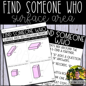 Find Someone Who (Surface Area of Rectangular Prisms)