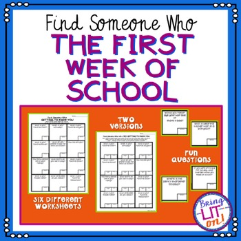 The First Week of School - Find Someone Who