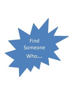 Find Someone Who... for kids Spring Break Ice Breaker