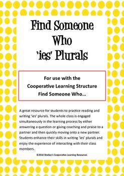 Find Someone Who: 'ies' Plurals