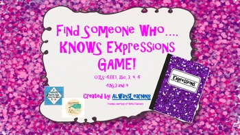 Find Someone Who....Knows Expressions Game!