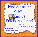 Find Someone Who...Knows Fractions Game!