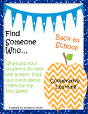 Back to School Classbuilding: Find Someone Who...