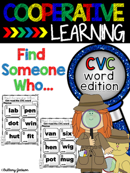 Find Someone Who... can read a CVC word