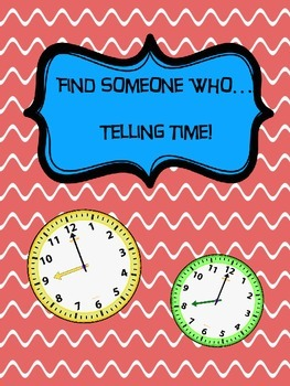 Find Someone Who....Telling Time
