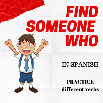 Find Someone in Spanish to practice 6 different verbs