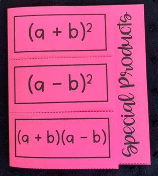 Find Special Products of Polynomials (Foldable)