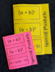 Special Products of Binomials (Foldable)