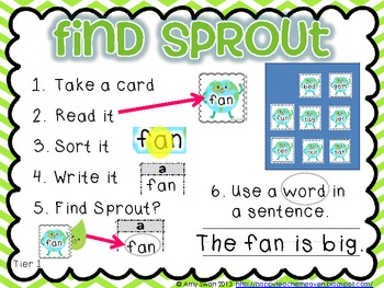 Find Sprout - Earth Day DIFFERENTIATED CVC & CVCe literacy station- CCSS aligned