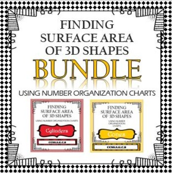 Find Surface Area of Cylinders Cones BUNDLE with Organizational Charts IT WORKS!