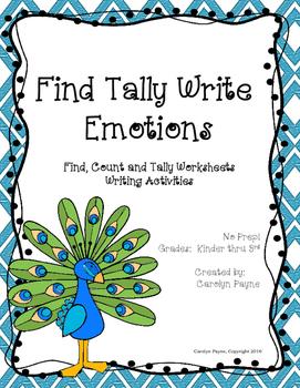 Social Emotional Skills:  Find Tally Write Emotions