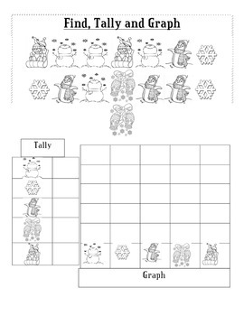 Find, Tally and Graph--Snowman