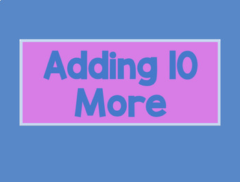 Add Ten More