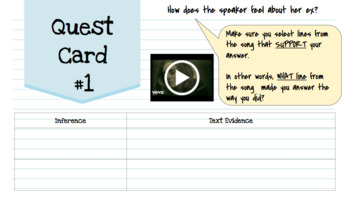 Find Textual Evidence Mini Lesson with Notes & Activity for Middle School RL1