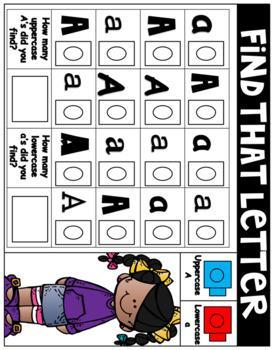 Find That Letter - Alphabet Cube Mats