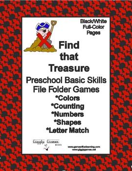 Find That Treasure Basic Skill File Folder Games