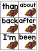 Find That Turkey! Sight Word Game