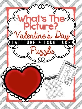 Hidden Picture Latitude and Longitude Puzzle: Valentines Day Edition