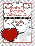Hidden Picture Latitude and Longitude Puzzle: Valentines D