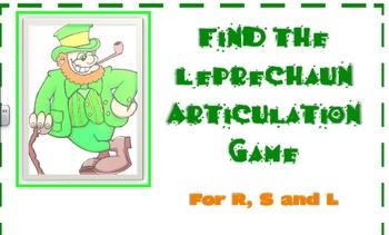 Find The Leprechaun Articulation Game